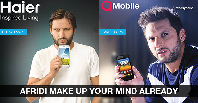 Afridi Joins QMobile