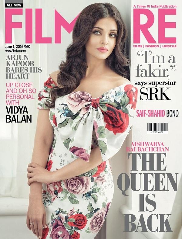 Aishwara Rai Filmfare Cover