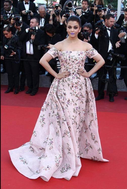 Aishwarya Rai at Cannes red carpet