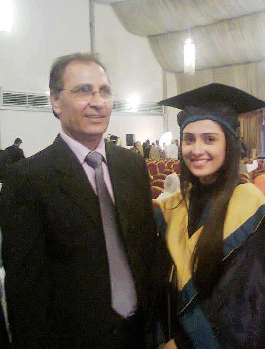 Ayeza Khan with Dad