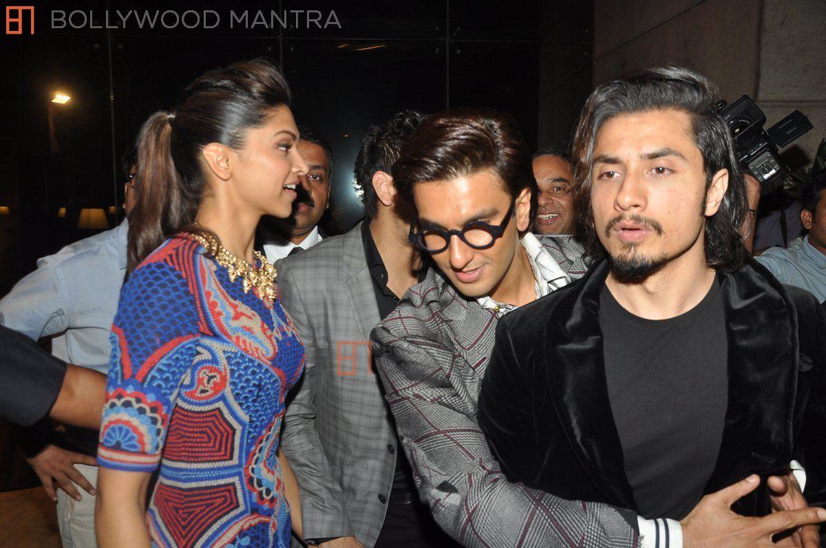 Ali Zafar with Deepika and Ranveer Singh 2