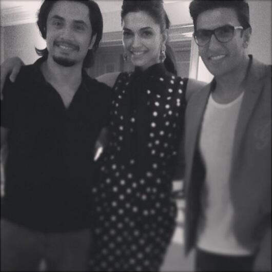 Ali Zafar with Deepika and Ranveer Singh