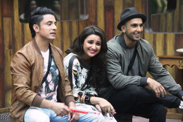 Ali Zafar with Parineeti and Ranveer Singh