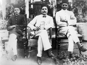 Allama Iqbal at a reception given by National League, London