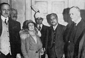 Allama Iqbal at a reception in London