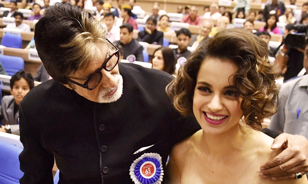 Amitabh-bachchan-and-Kangna-Ranaut-receive-National-Awards