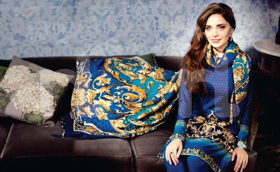 Armeena Rana Khan Nishat Winter Collection (1)
