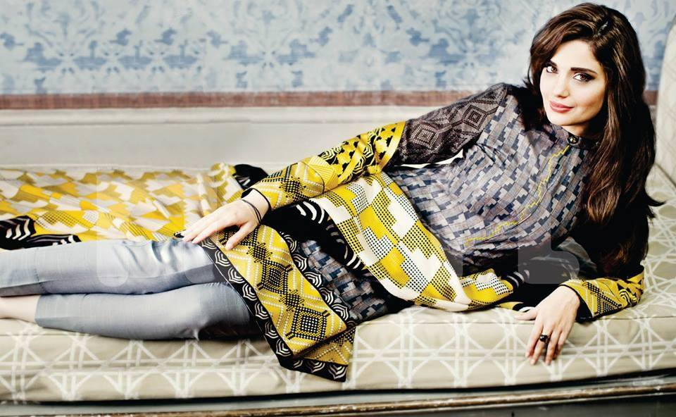 Armeena Rana Khan Nishat Winter Collection (4)