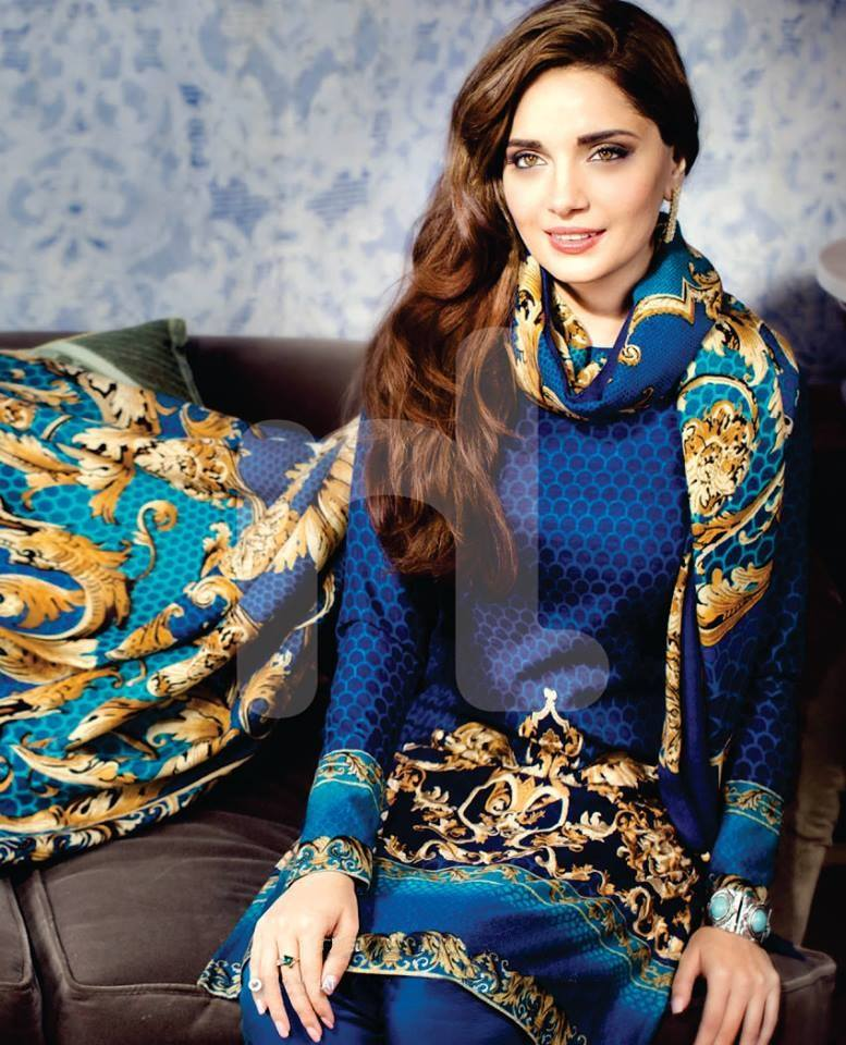 Armeena Rana Khan Nishat Winter Collection (5)