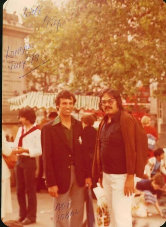 Asif Iqbal Razvi and Veteran PTV Actor Raju Jamil (1)