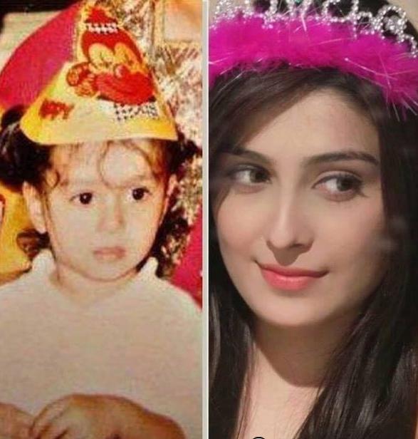 ayeza-khan chilhood picture