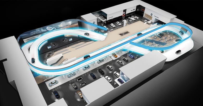 BMW indoor parking