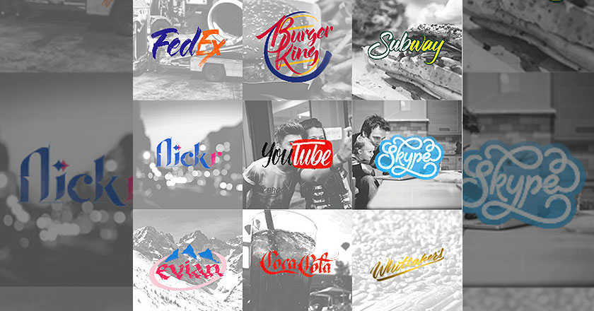 Brand by Hand Artist Turns Old Brand Logos Creative by Handwriting