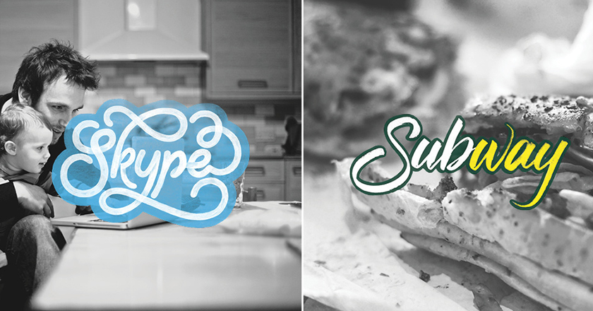 Brand by Hand Artist Turns Old Brand Logos Creative by Handwriting1