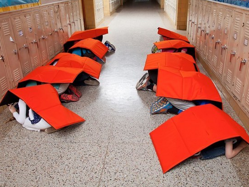 Bulletproof Bodyguard Blanket for protection from school shooting and tornadoes