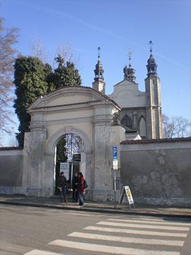 Main gate of the Sedlec Ossuary