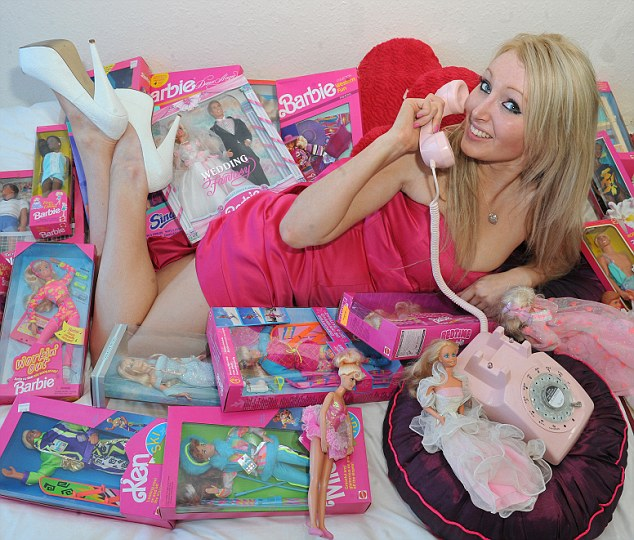 Pics By Phil Richards... Pic Shows Barbie Look-A-Like Charlette who As Gone As Far As To Change her face to look more like barbie se story phll cardy.
