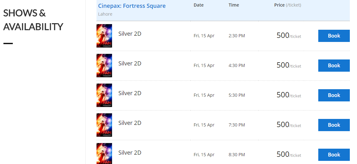 Cinepax Lahore