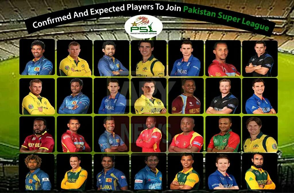 Confirmed players to join PSL