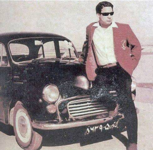 Current-Pakistani-Prime-Minister-Nawaz-Sharif-poses-with-his-car-as-a-young-man-in-late-1960s
