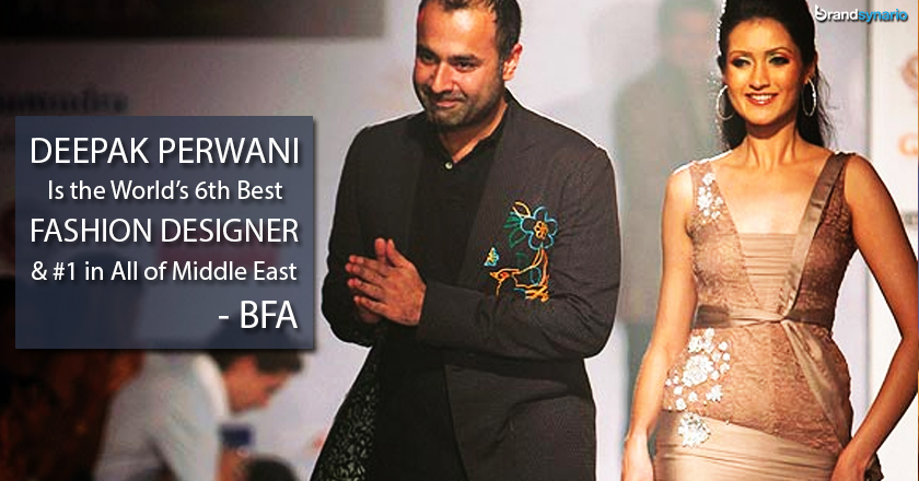 Pakistani Deepak Perwani Is World S 6th Best Fashion Designer Brandsynario