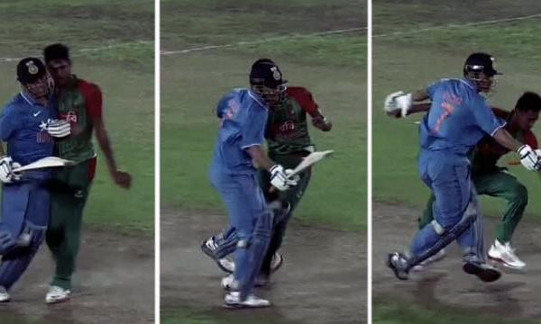 Dhoni-Pushes-Bangladesh-Bowler-Mustafizur-Rahman
