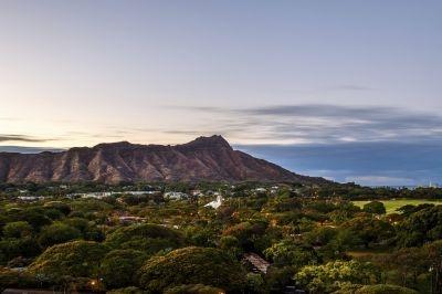 Diamond Head Crater in Hawaii, USA.