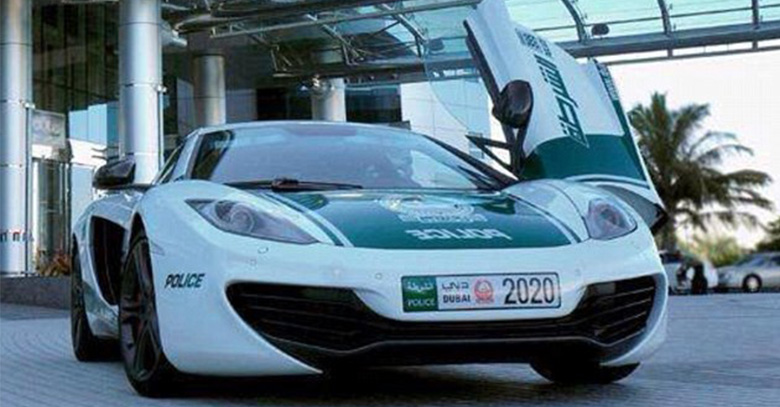 Dubai Police Adds McLaren MP412 C to Its Car Fleet