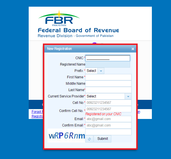 FBR-Tax return.Brandsynario