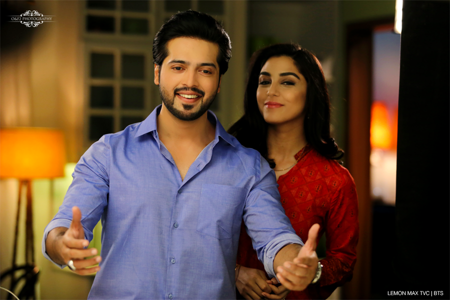 Fahad mustafa and Maya Ali in Lemon Max TVC