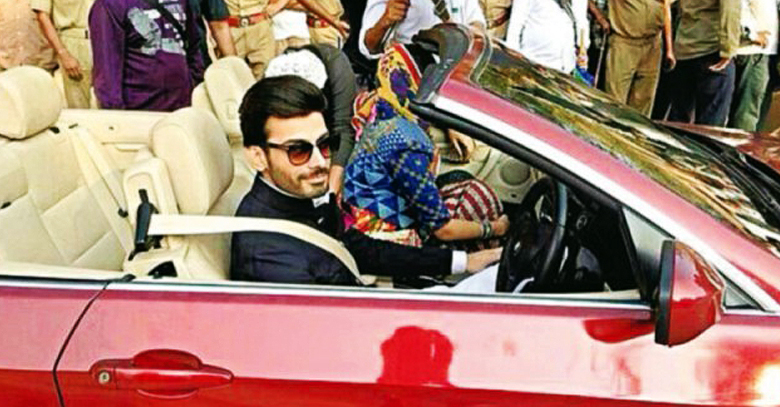 Fawad Khan Spotted on the sets of Bollywood Disney movie Khoobsurat