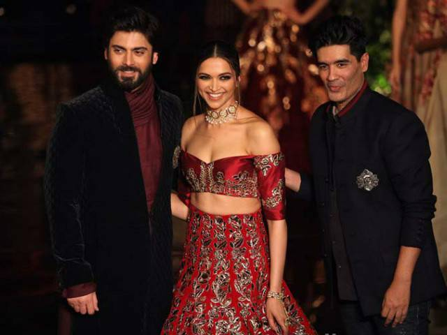 Fawad Khan and Deepika with Manish Malhotra