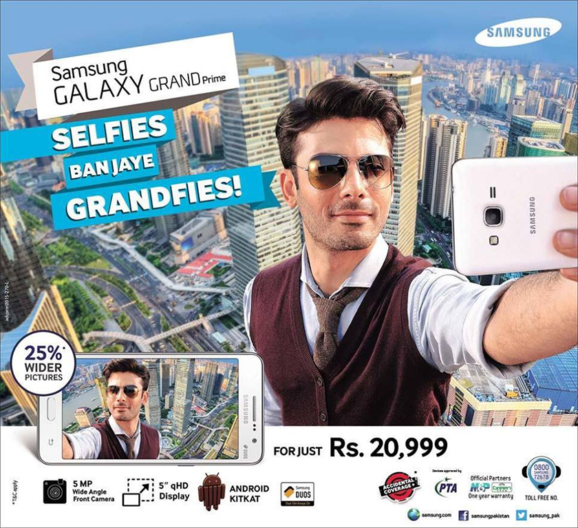 Fawad Khan promotes Samsung Galaxy Grand Prime Selfie Camera