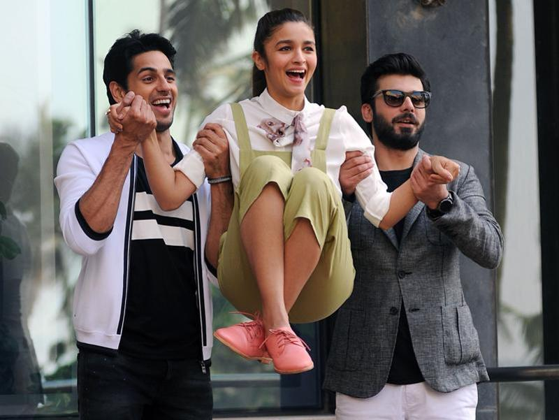 Fawad Khan with ALi Bhatt and Sidharth Malhotra 1