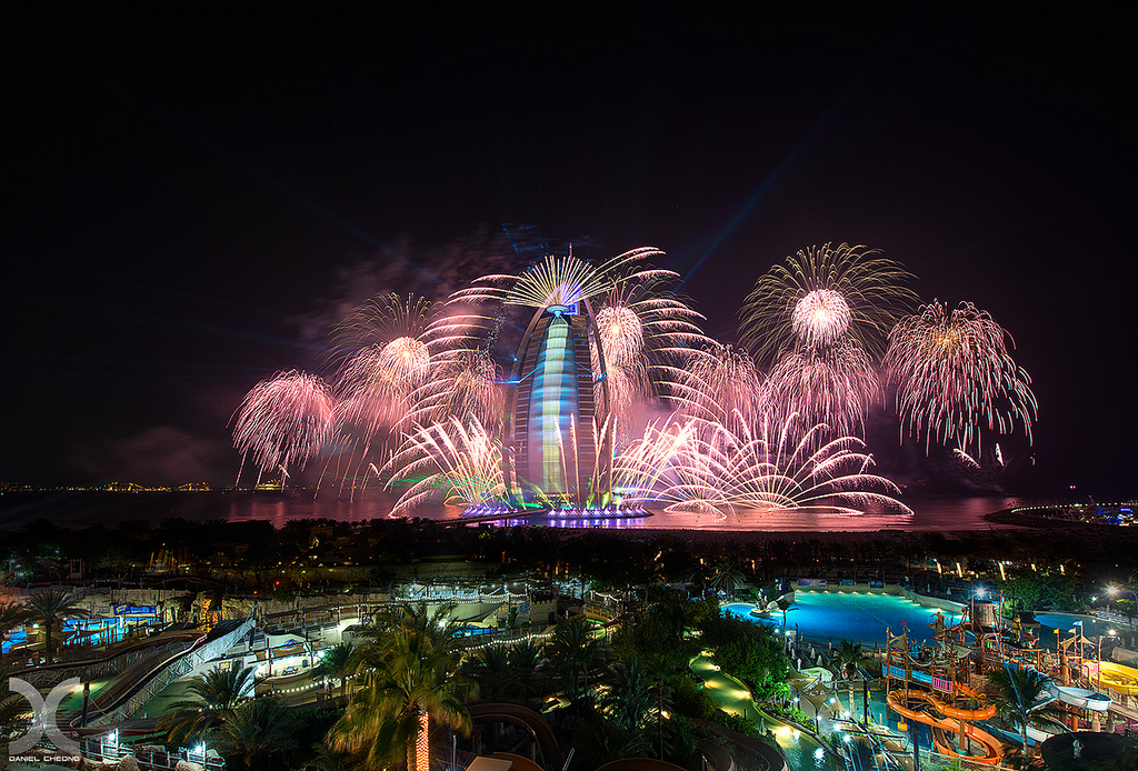 Fireworks at UAE National Day