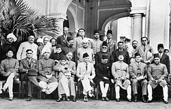 Founder fathers and Muslim League leaders after a dinner party 1940