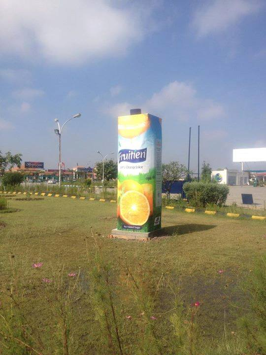 Fruitien OOH Campaign at Motorway Service Area Lahore - Islamabad Pakistan
