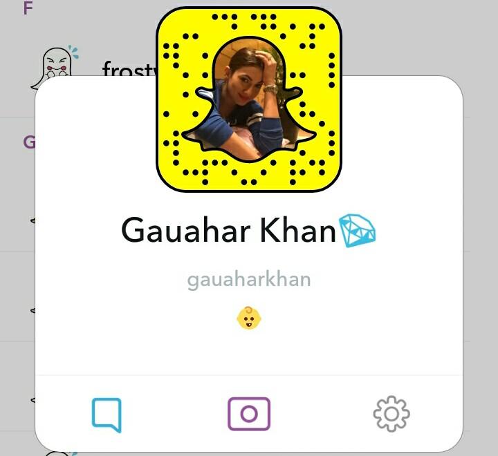 Gauhar Khan snapchat