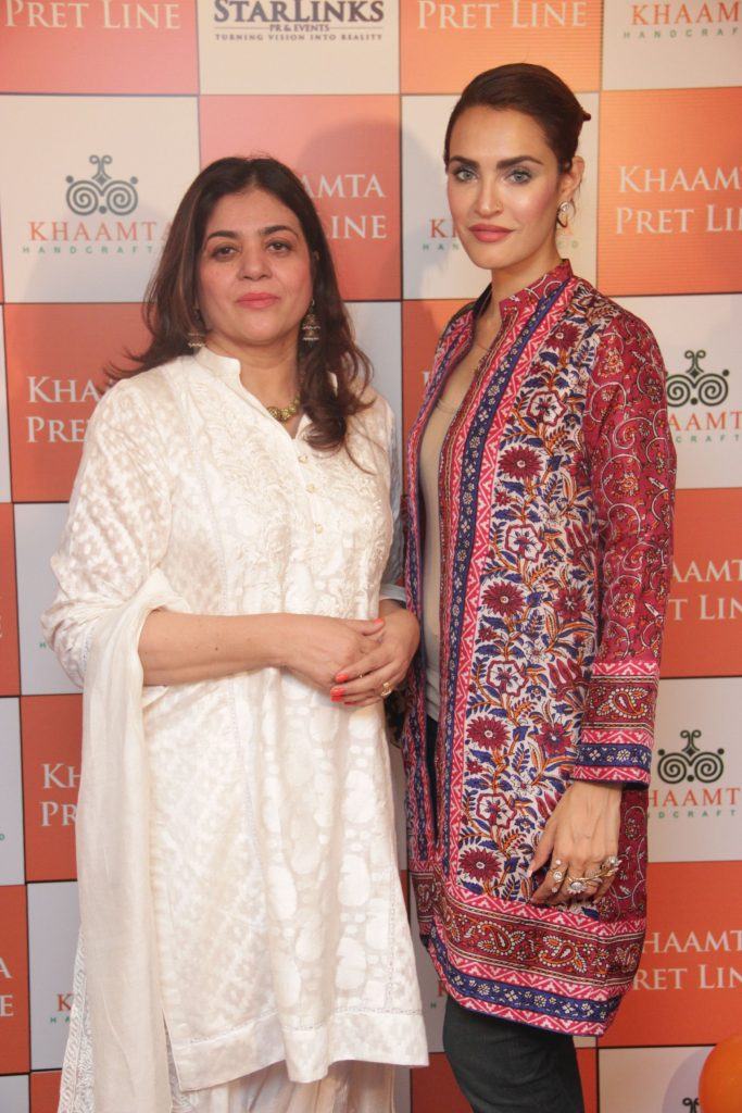 Ghazala Saifi, owner of Khaamta, with Nadia Hussain