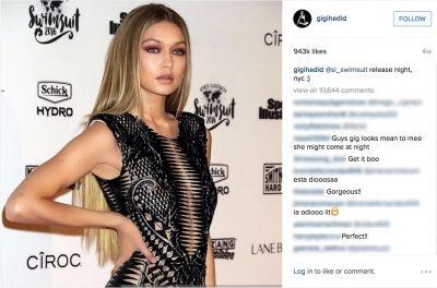 Gigi Hadid Instagram pic