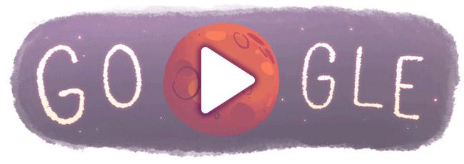 Google image Water on Mars