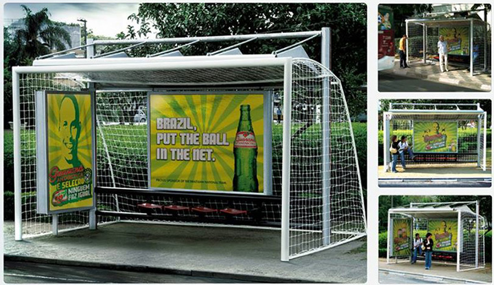 Guarana Antarctica OOH Soccer World Cup Campaign in Brazil