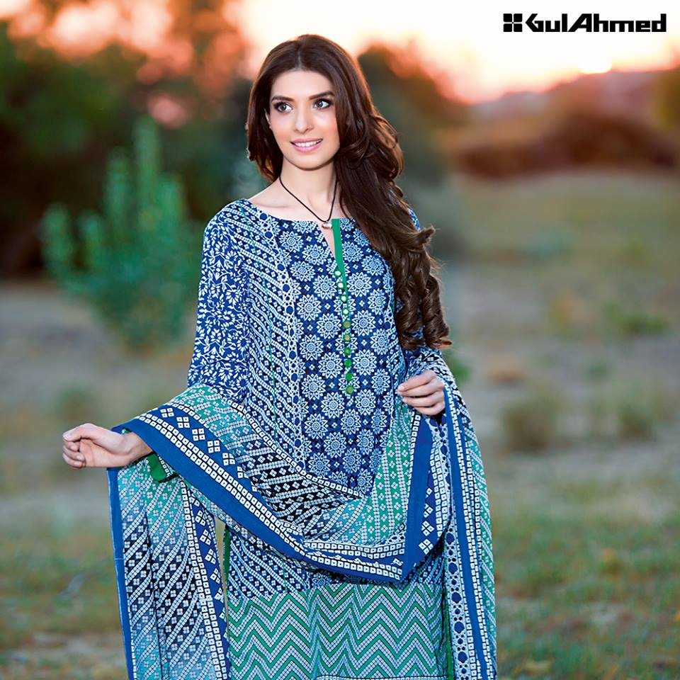 07cbdfa05e Gul Ahmed Spring/Summer Lawn Collection 2016 Volume 1 Launched ...