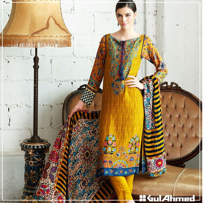 Gul Ahmed Winter Collection 2015 (22)