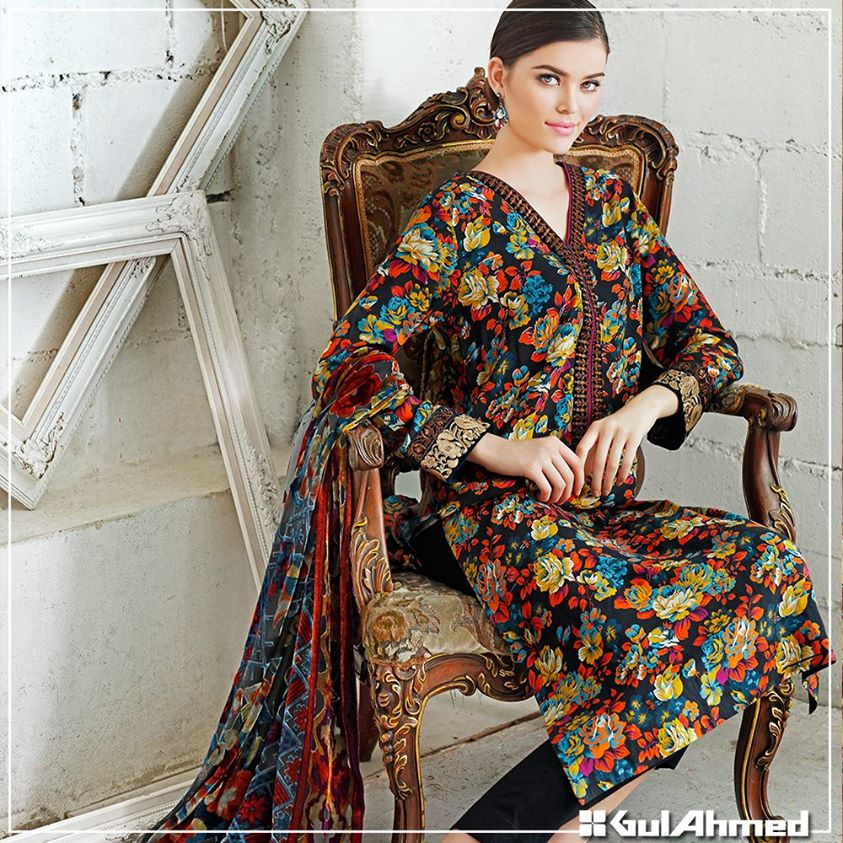 Gul Ahmed Winter Collection 2015 (26)