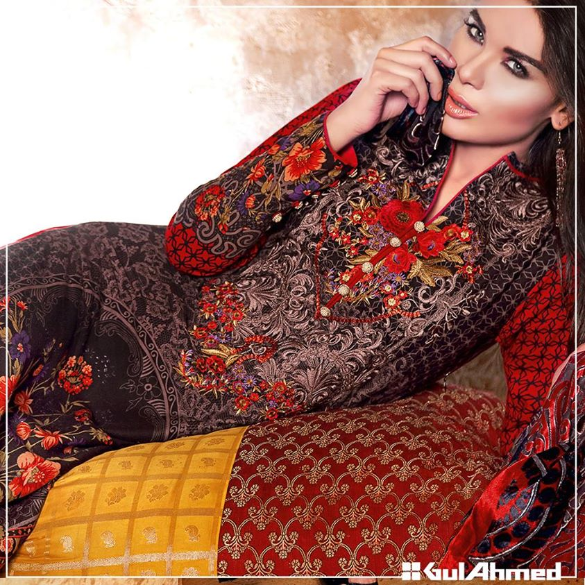 Gul Ahmed Winter Collection 2015 (35)