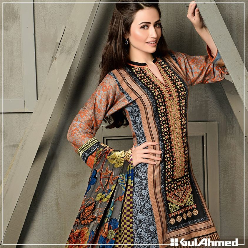 Gul Ahmed Winter Collection 2015 (36)