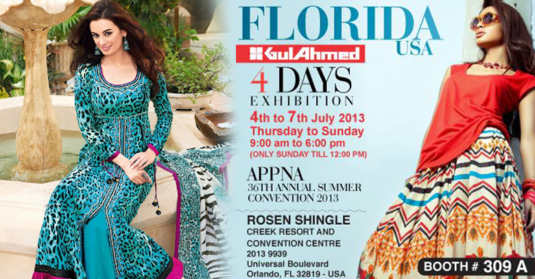 Gul Ahmed exhibits its clothing line in Florida