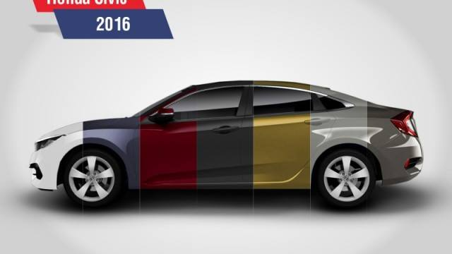 Honda Civic Colors >> Honda Unveils The All New Civic 2016 In 7 Bold Colors Brandsynario