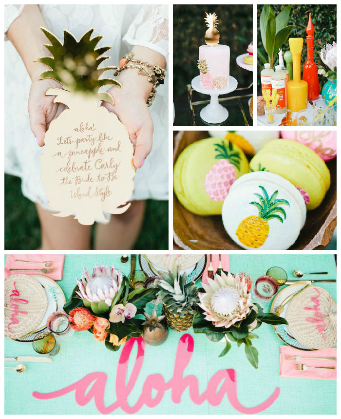 Hawaiin Honey Moon based bridal shower